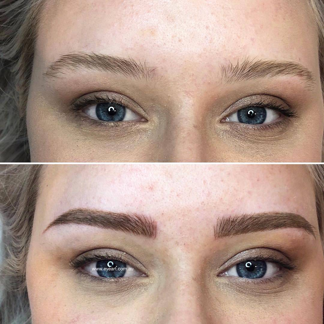 Combination Eyebrow Tattoo
