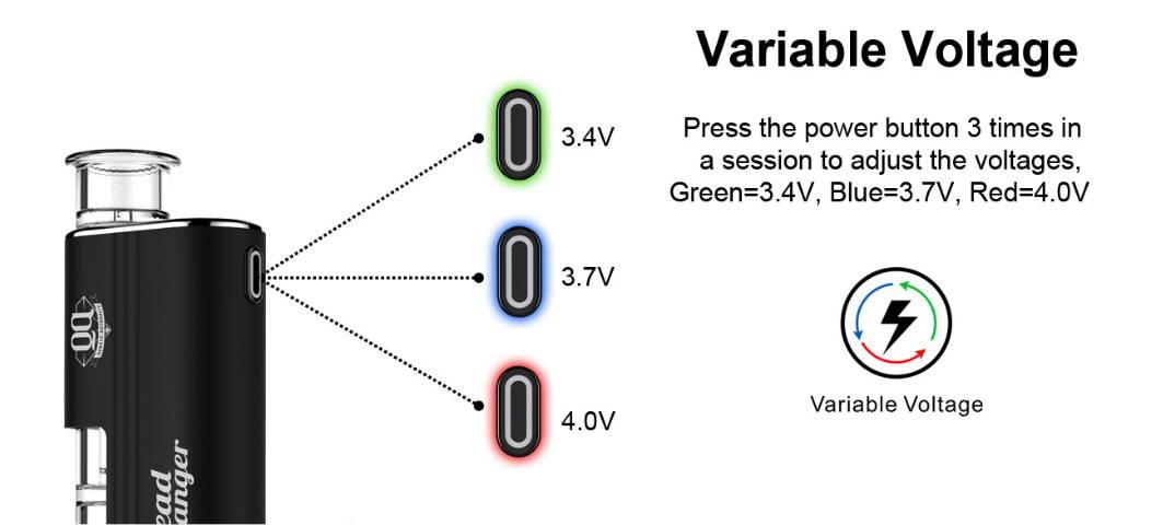 headbanger shatter vape pen with variable voltage