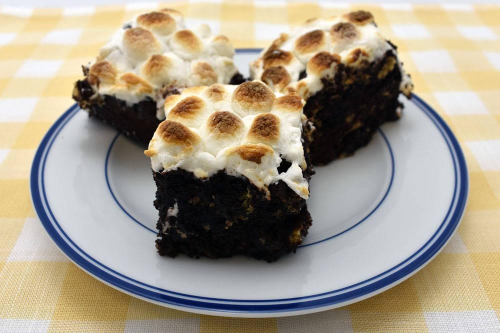 Gluten-Free Smores Brownie  made with Bosquet Gluten-Free Chocolate Chip Brownie Mix