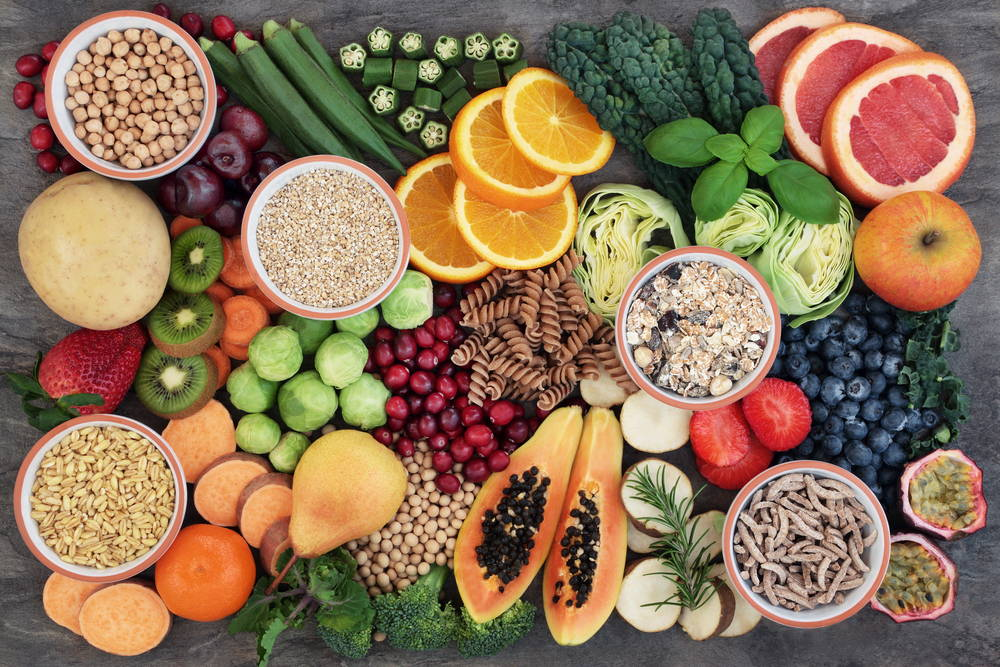 fruits, vegetables, nuts, seeds, balanced diet, vegan, vegetarian