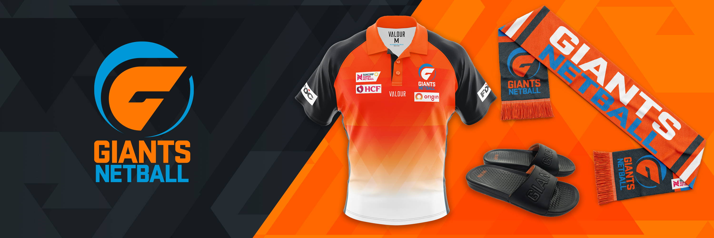 #RiseAsGIANTS. Shop GIANTS Netball 2020 Official Merchandise at Valour Sport
