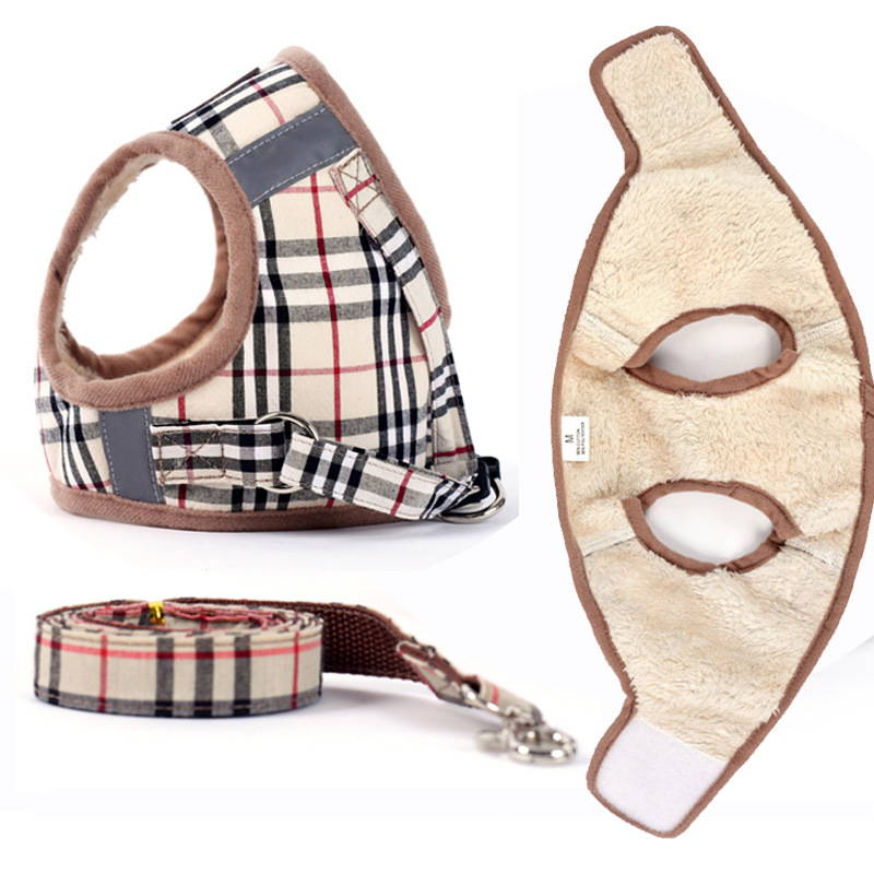 burberry step in dog harness and leash