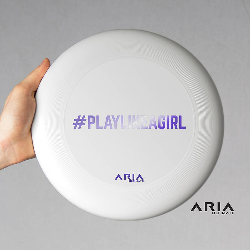 ARIA professional official ultimate flying disc for the sport commonly known as 'ultimate frisbee' play like a girl design