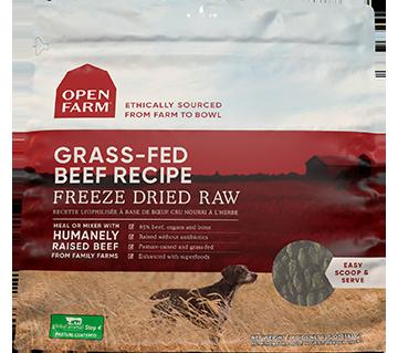 Grass-Fed Beef Freeze Dried Raw Dog Food | Open Farm