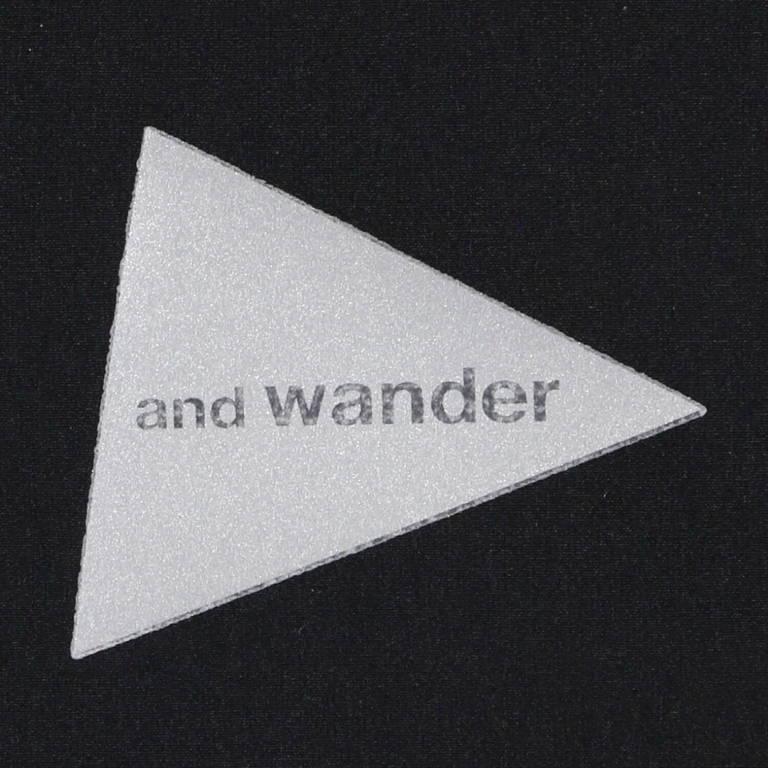 andwander(アンドワンダー)/トレックジャケット 2/ブラック/UNISEX