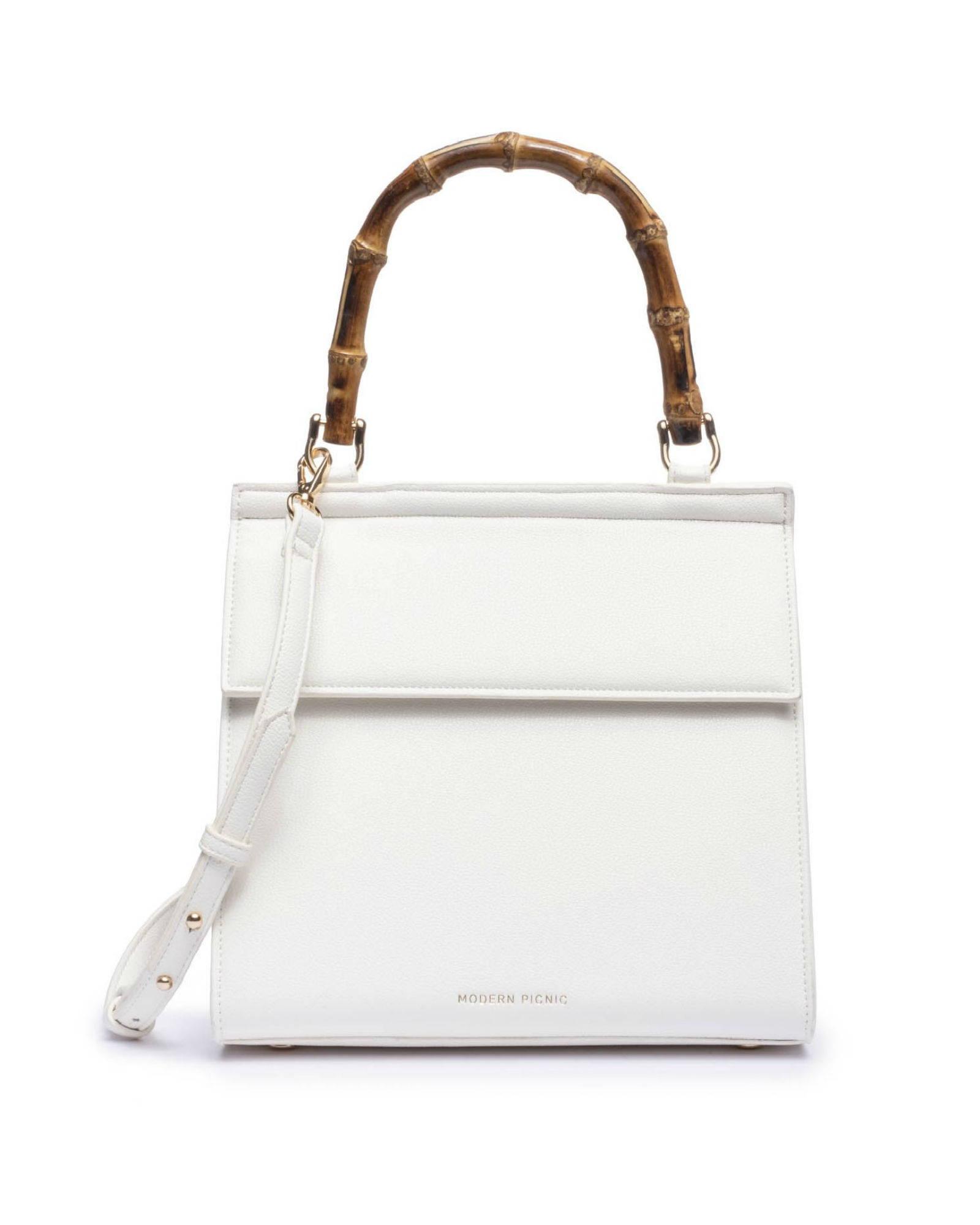 LUNCH BOX PURSE - WHITE BAMBOO LUNCHER - ModernPicnic.com