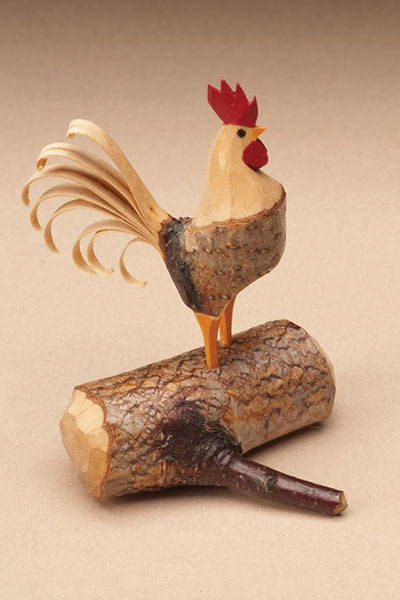 Completed Branch Rooster