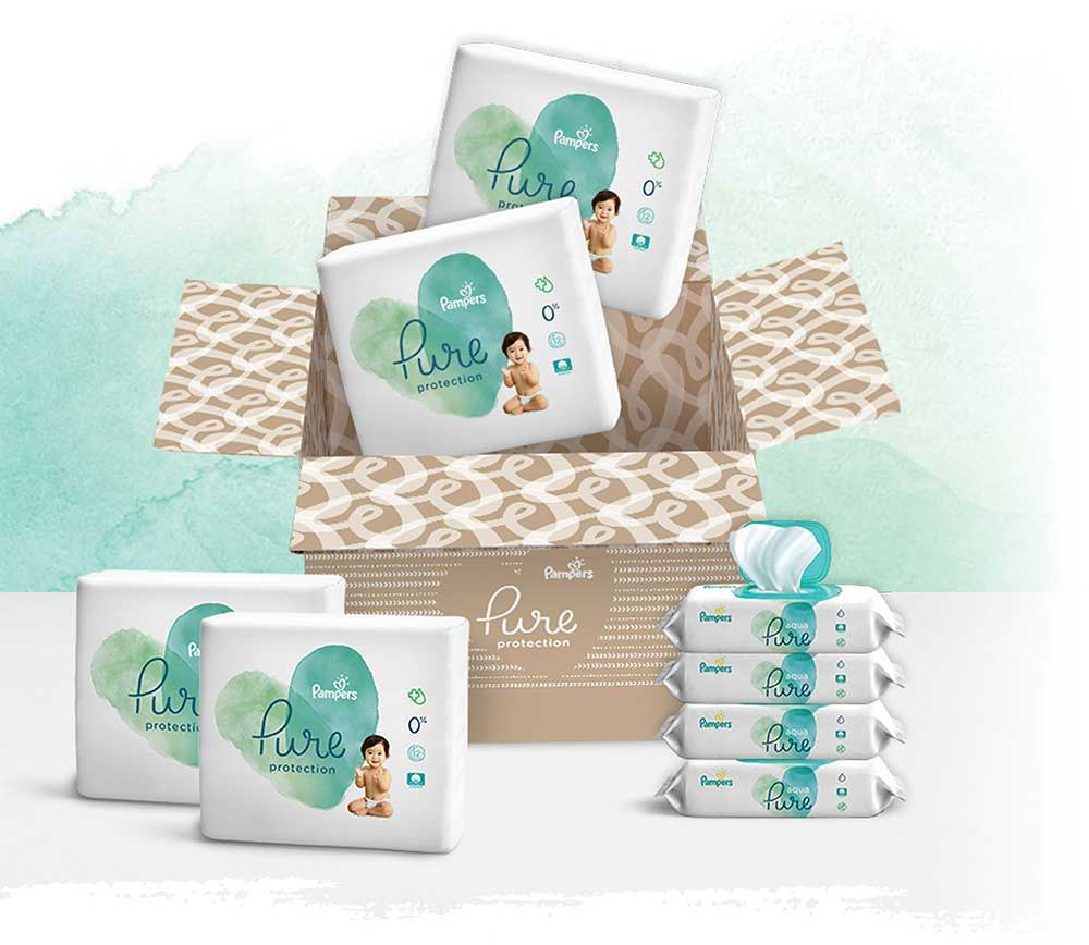 Subscribe and Personalize Your Pure Protection Diapers and Aqua Pure Wipes Bundle