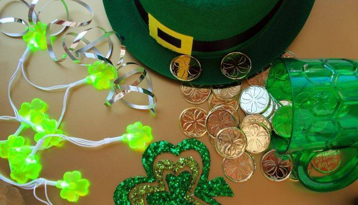 St. Patrick's Day decorations and novelty items