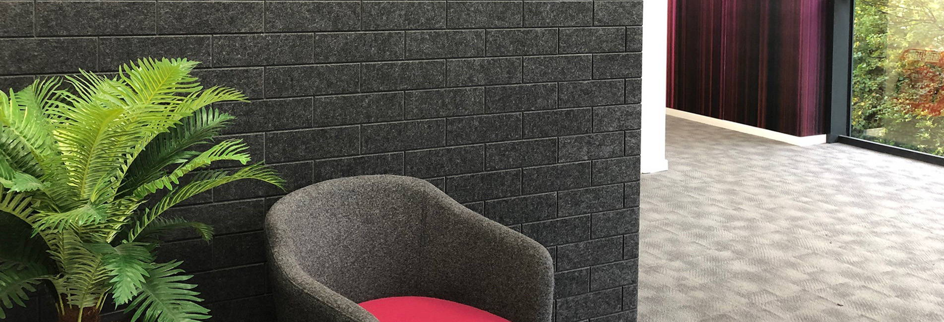 brick tex tiles acoustic wall reception area