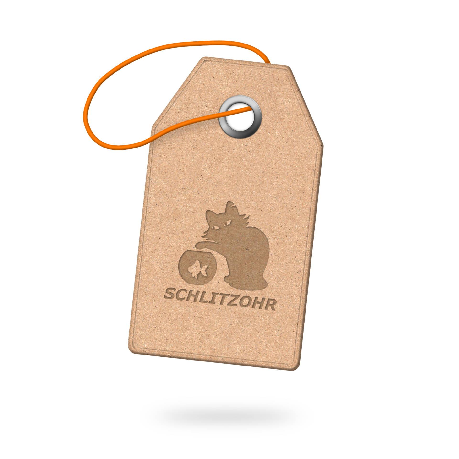 Katzenhängematte & Fensterliegeplatz - Schlitzohr Etikett