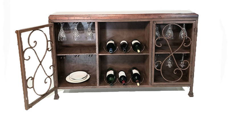 Mesquite wood buffet cabinet model number 1230