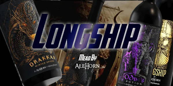 Longship mead by AleHorn. When the Vikings made their way to America, they brought with them a taste for honey. The AleHorn Viking Honey Mead is one of many varieties that are available in this scrumptious drink which can be enjoyed any time you're feeling adventurous!