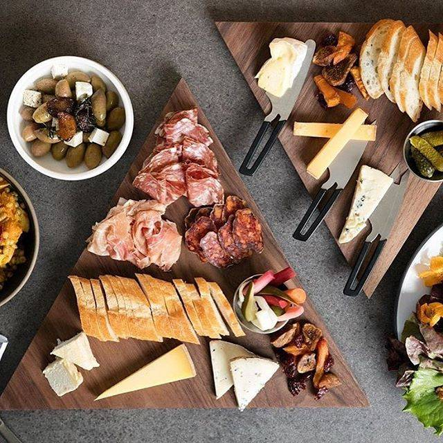 Tomales Farmstead Creamery Charcuterie and Cheese on Triangular Cheeseboards