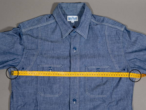 how to measure a shirt chest