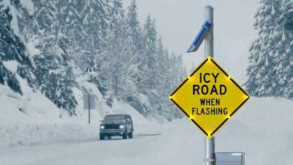 Icy-Road-Warning-System-lets-driver-know-about-dangerous-roadway
