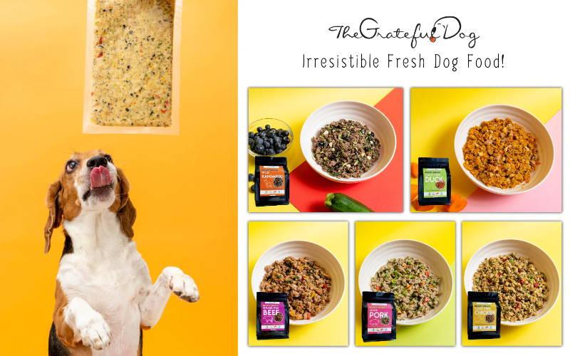 The Grateful Dog fresh frozen dog food collection mobile