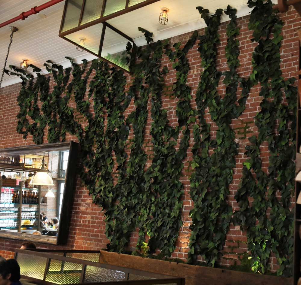 Gelso & Grand Restaurant NYC Wall Garden Project [Natural Decor ...