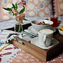 Finished with two layers of food grade wood sealants, the tray can be used to present food and for things like breakfast in bed