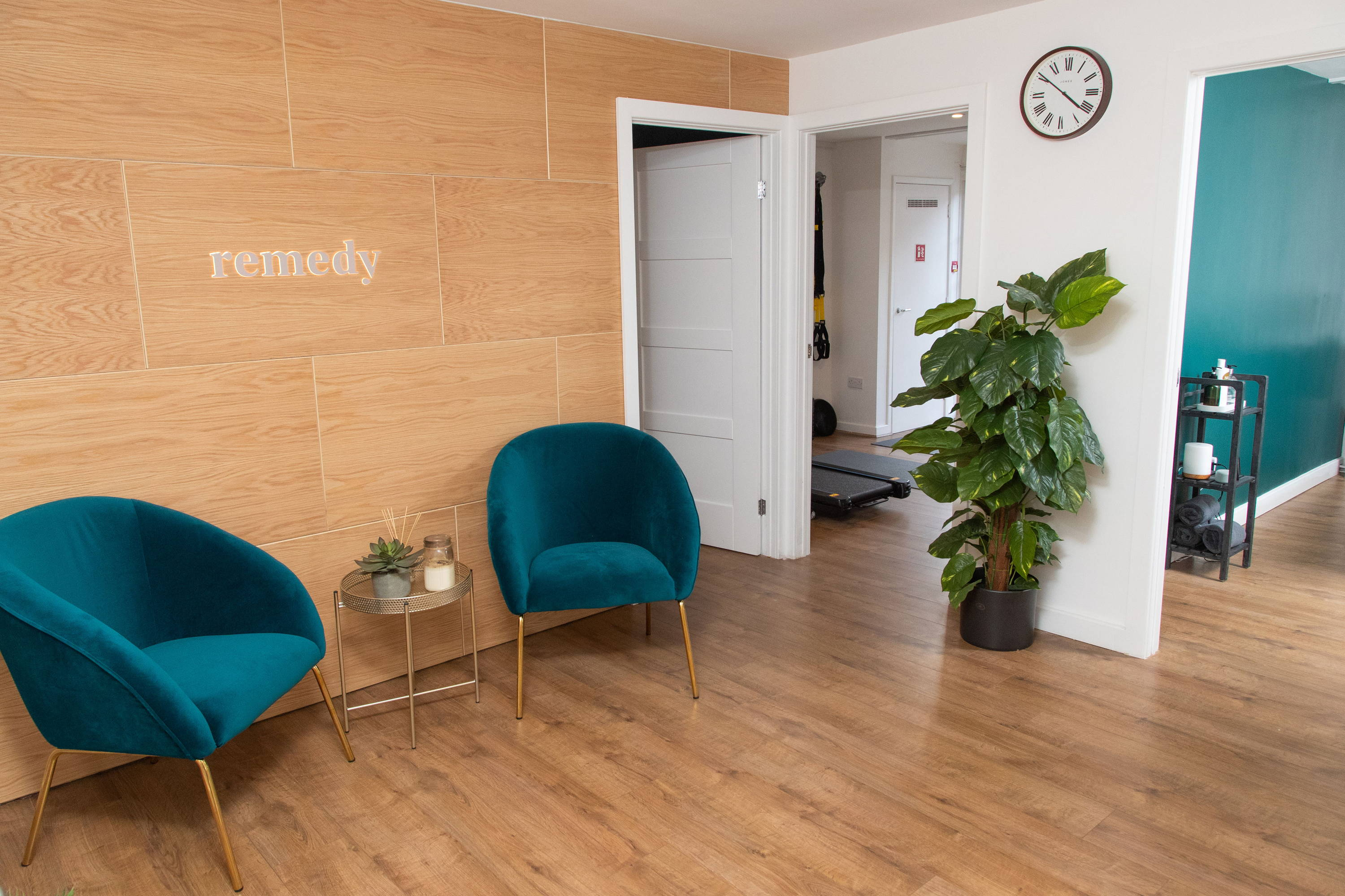 Patient waiting area at Remedy Burton Physiotherapy Clinic