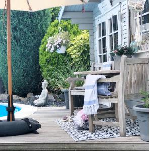 Baser Sonnenschirmständer Sonnenschirm Holz Stock Garten Schwimmen Becken Tuch