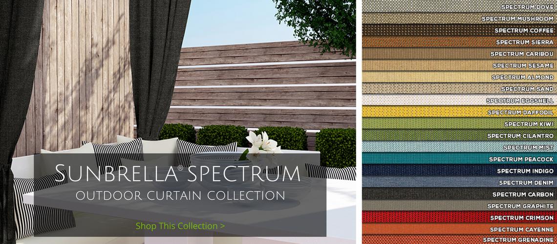 sunbrella spectrum outdoor curtain collection