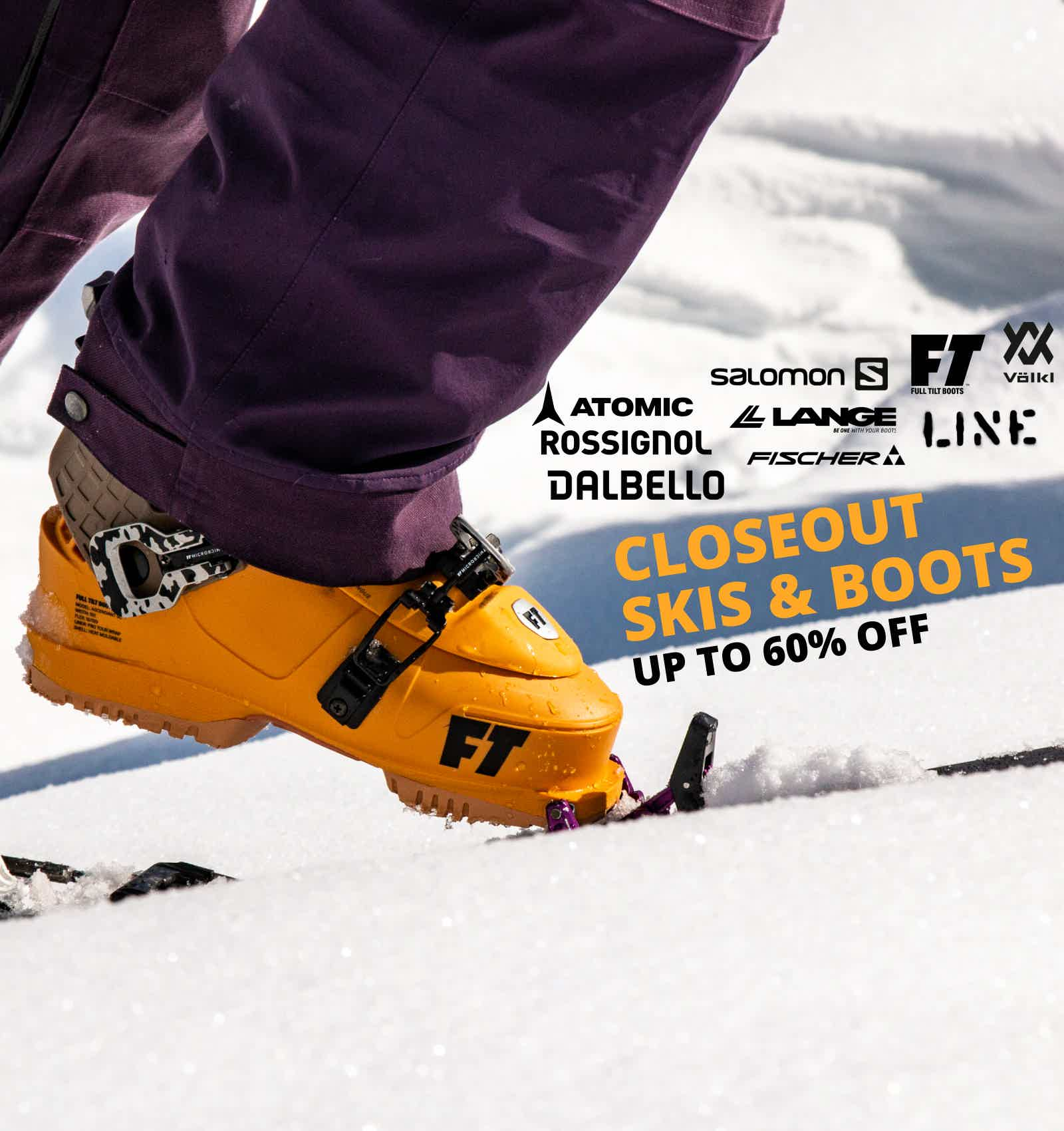 Closeout Skis & Boots