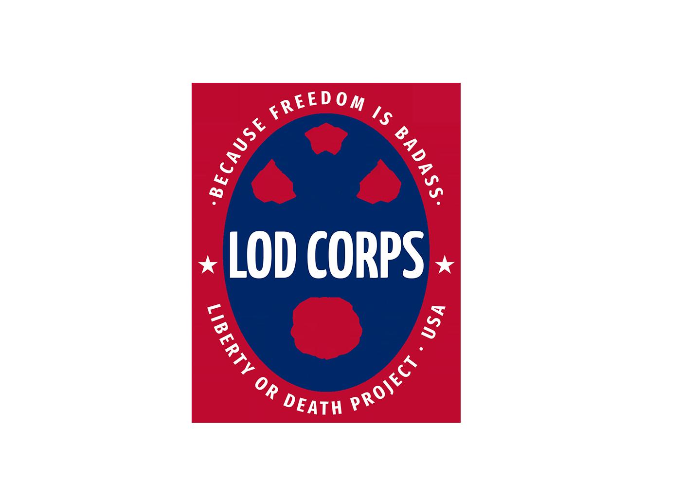 LOD CORPS shirt front logo