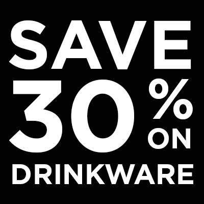 Save 30% On Drinkware