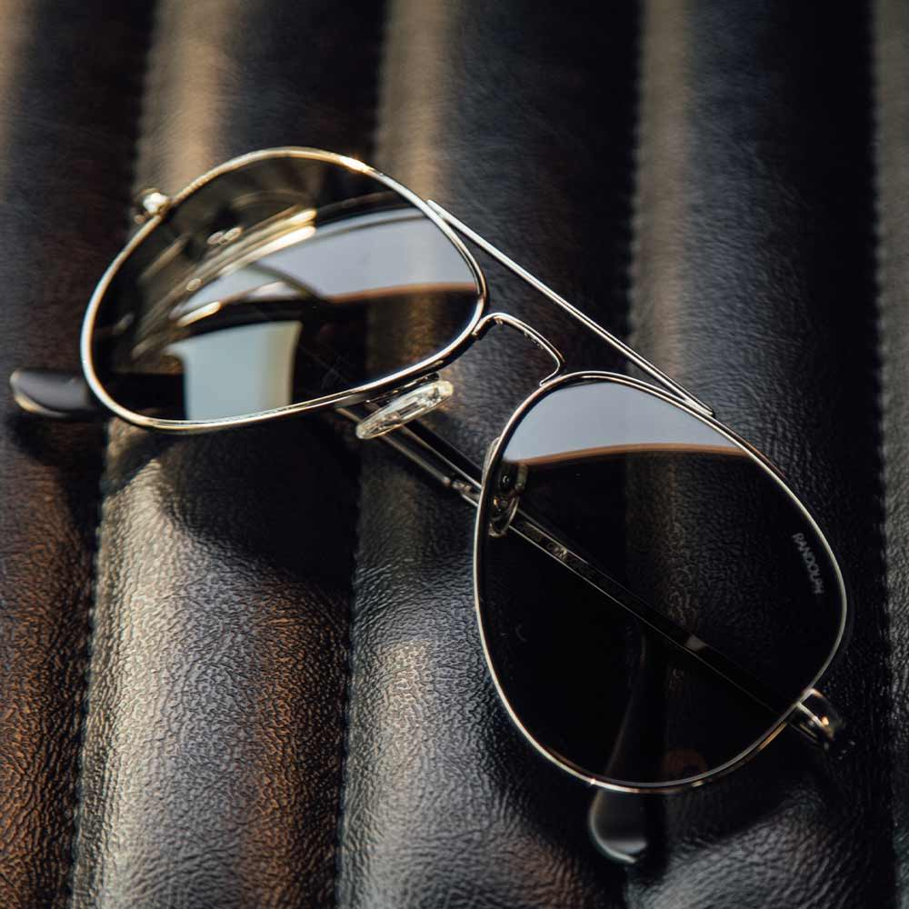 Randolph Gunmetal Sunglasses - Concorde