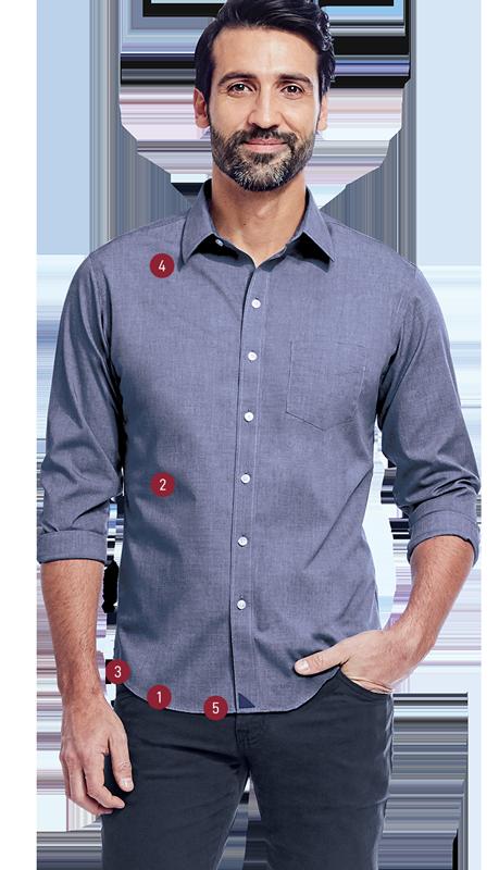Man wearing UNTUCKit shirt