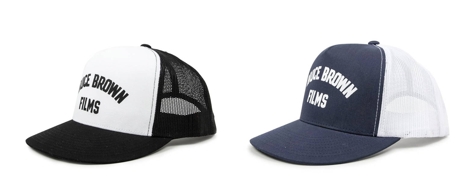 Iron & Resin X Bruce Brown Films BBF Trucker Hat in Black and Navy Color Options