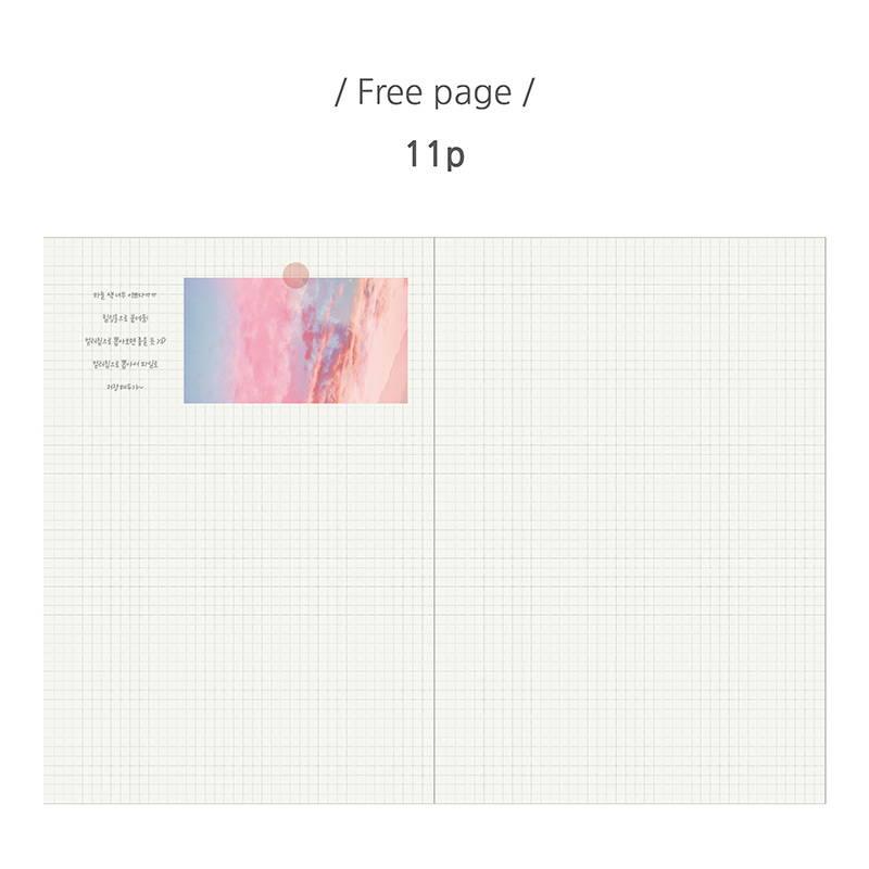 Free note - PLEPLE 25 weeks time dateless weekly diary planner