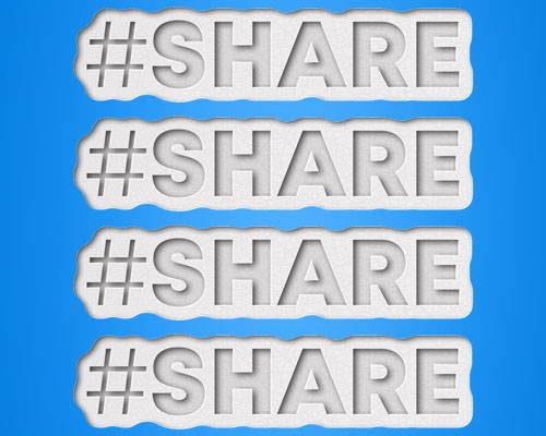 share word repeated 4 times to encourage social sharing