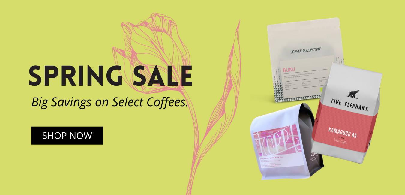 Spring coffee sale