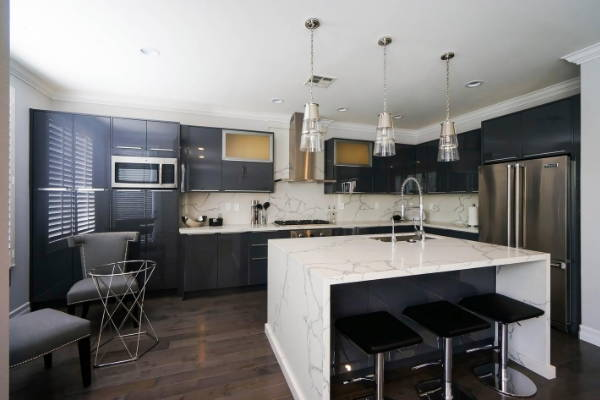European Kitchen Cabinets - Lacquer Paint- Charcoal Gloss