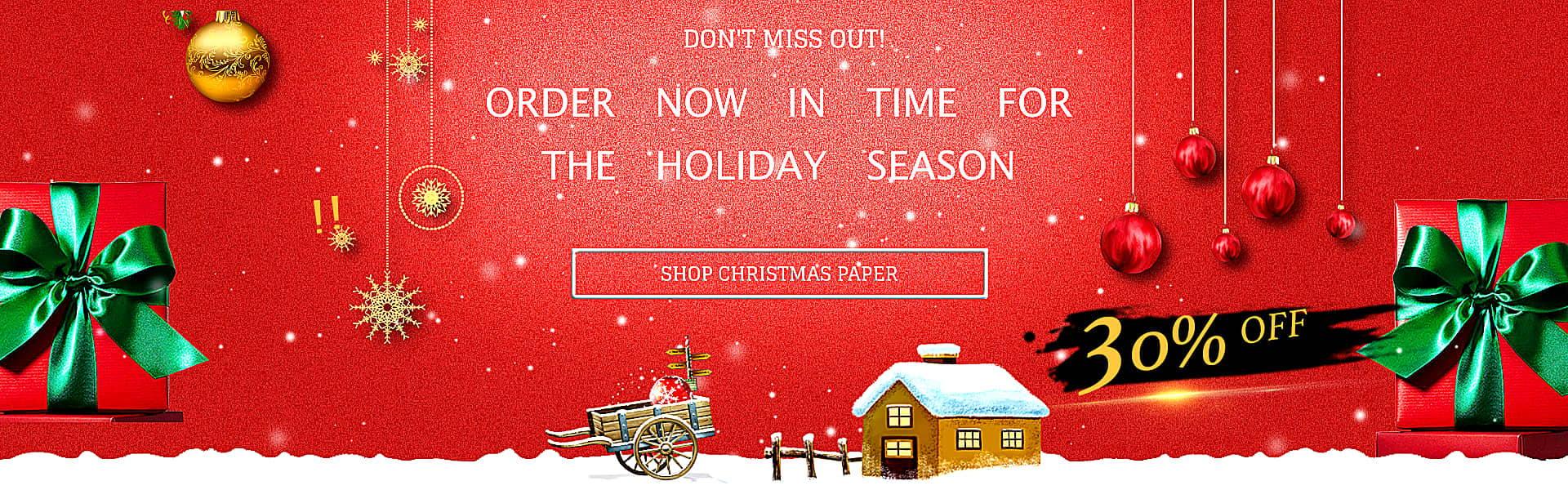 Origami Time Christmas Banner