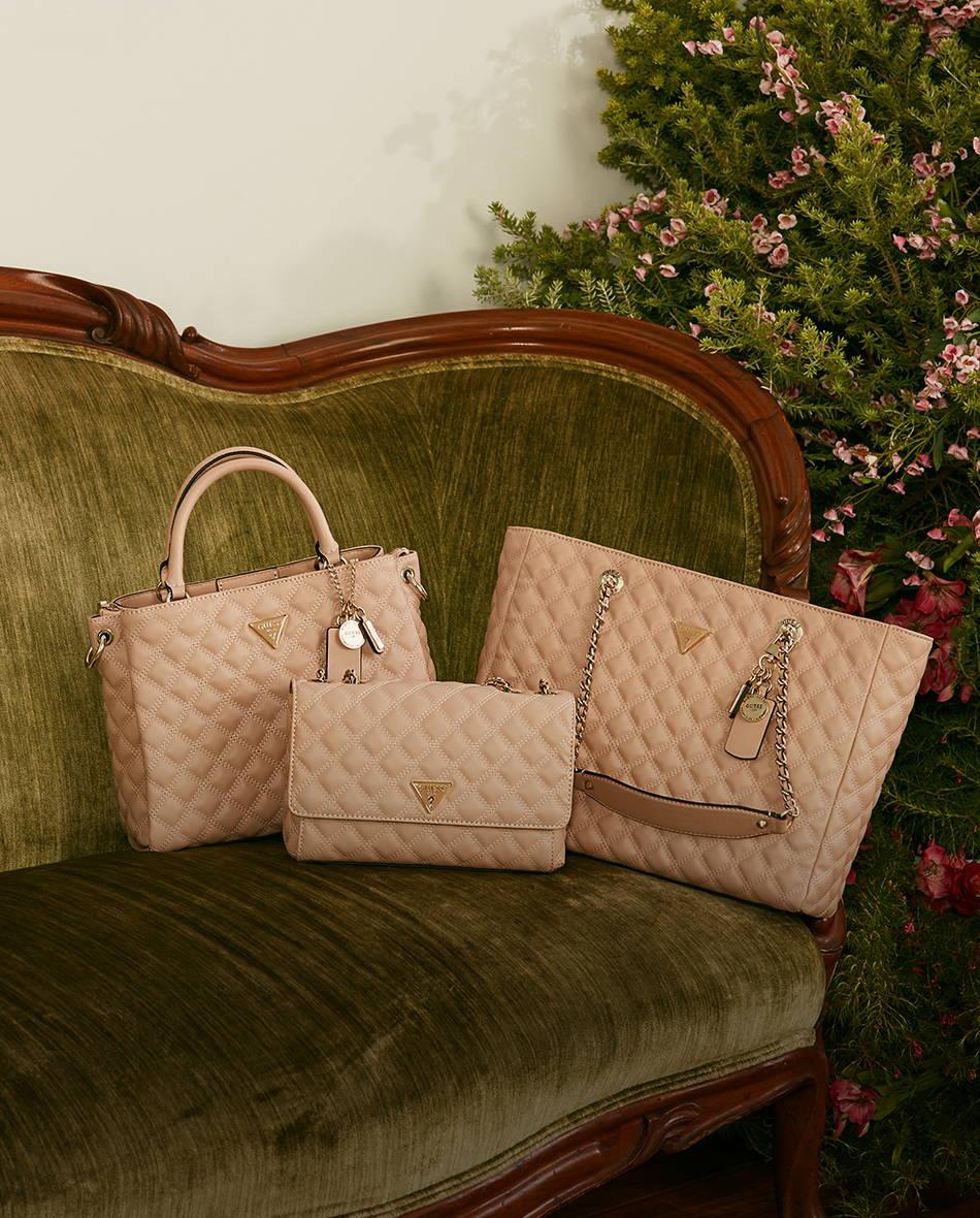 3 pink guess handbags