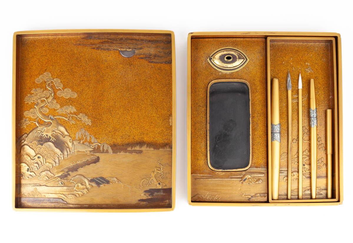 japanese calligraphy box, suzuribako