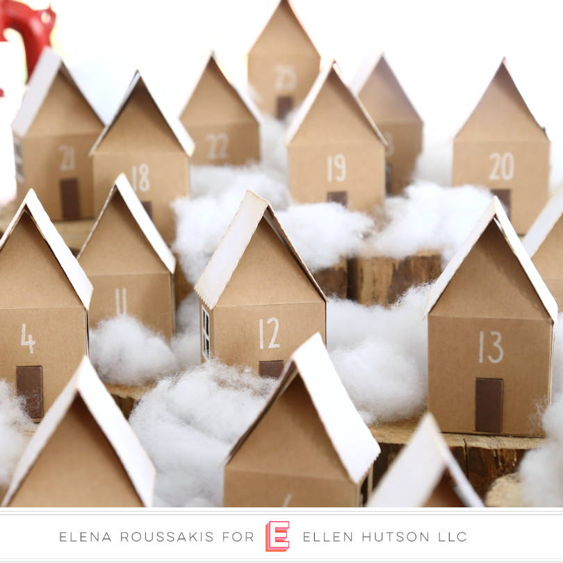 Village of DIY Advent Houses with Essentials by Ellen House Box die