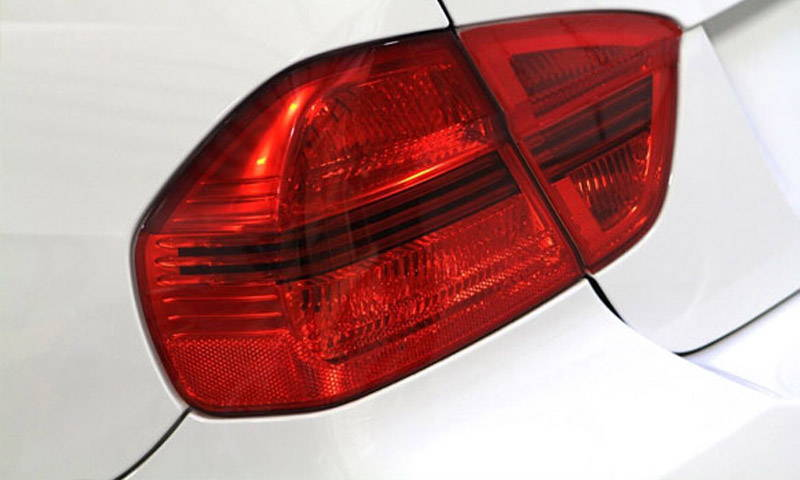 Red Lamin-x tail light film covers