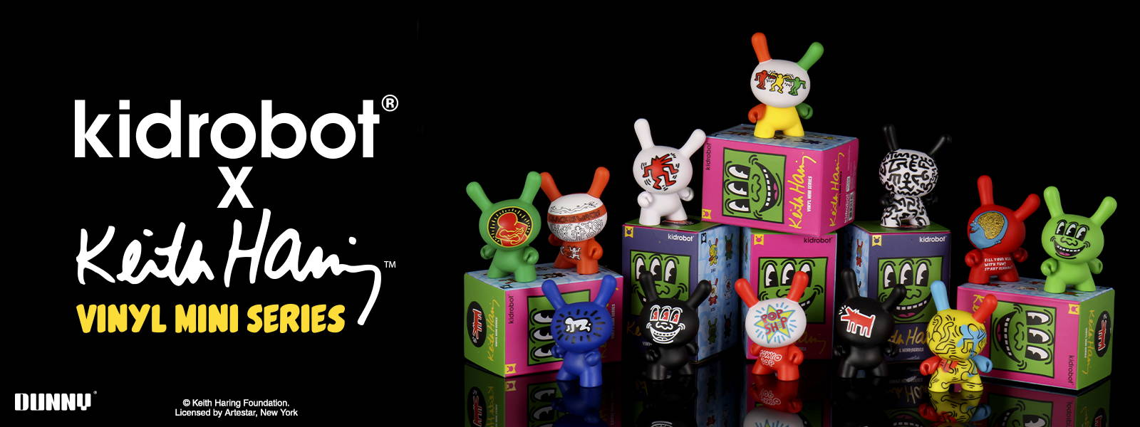 Kidrobot Keith Haring Dunny Art Figure Series