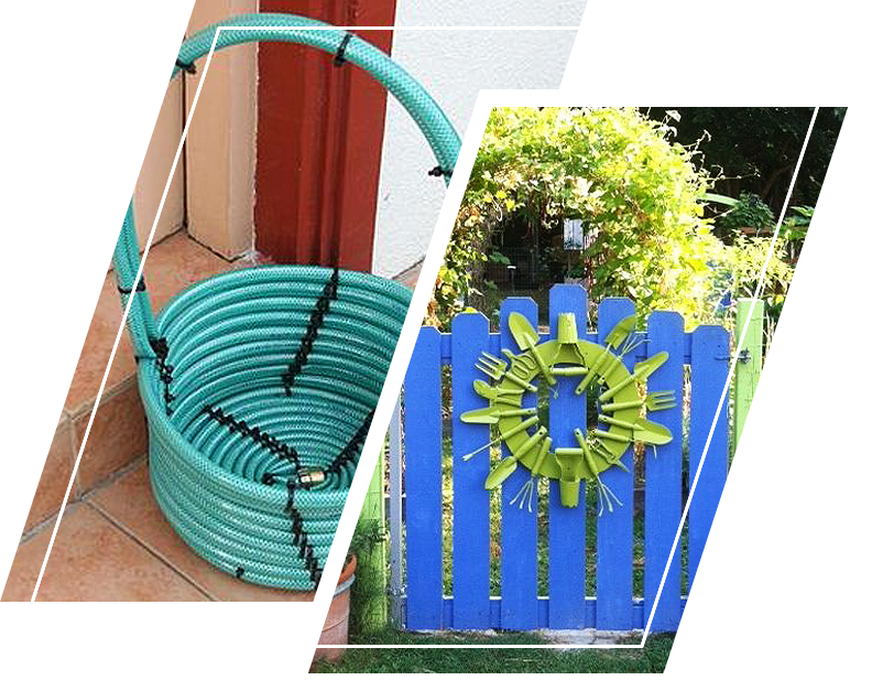 Repurposed old garden tool