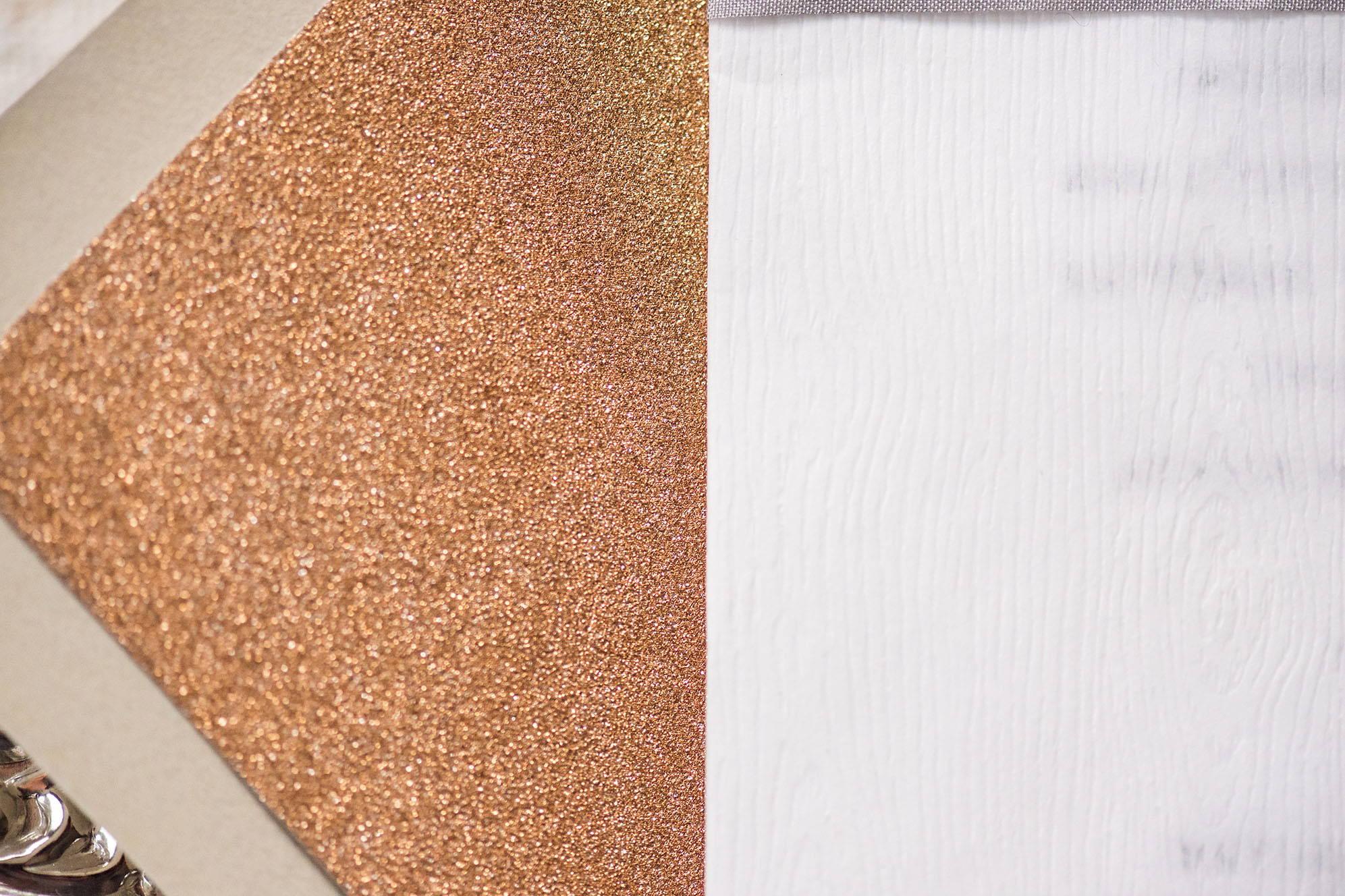 rose gold liner, rose gold glitter liner, envelope liner, custom invitation, bespoke invitation