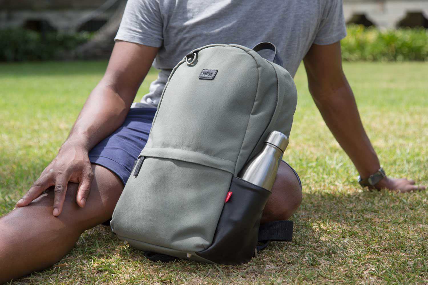 Toffee Berlin Backpack with Steel Water Bottle