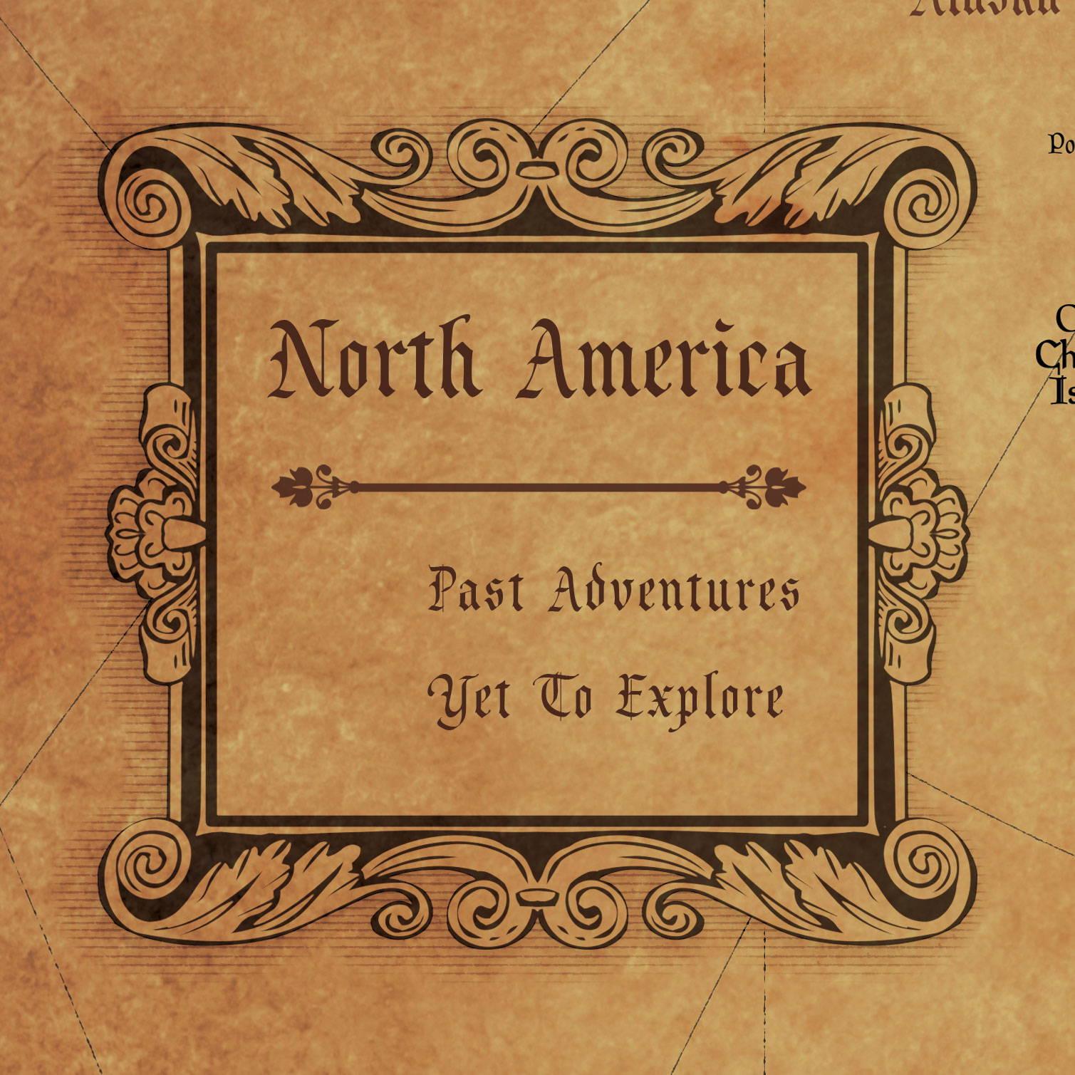 Conquest Maps Golden Aged North America Legend