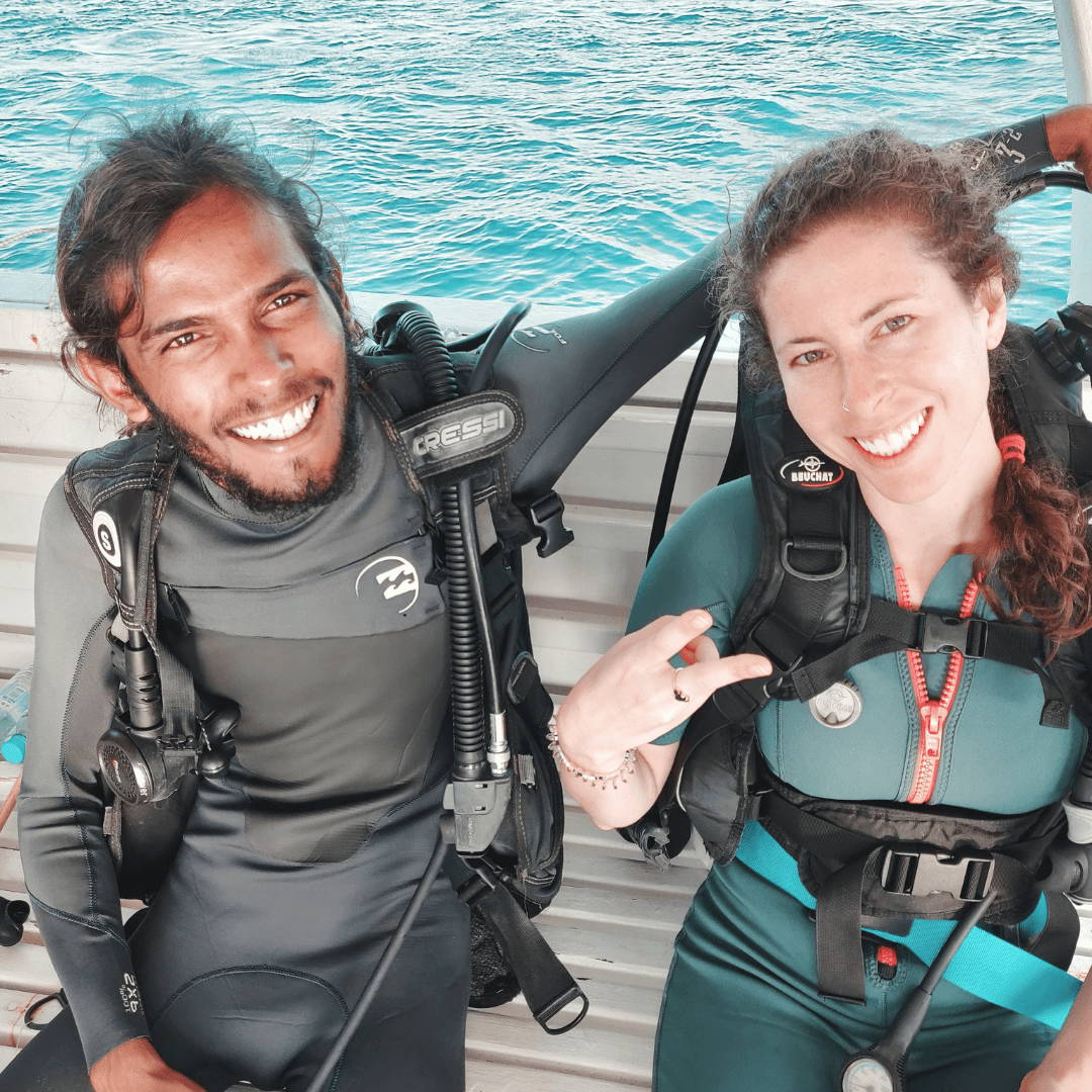 maldives group tour padi scuba lesson