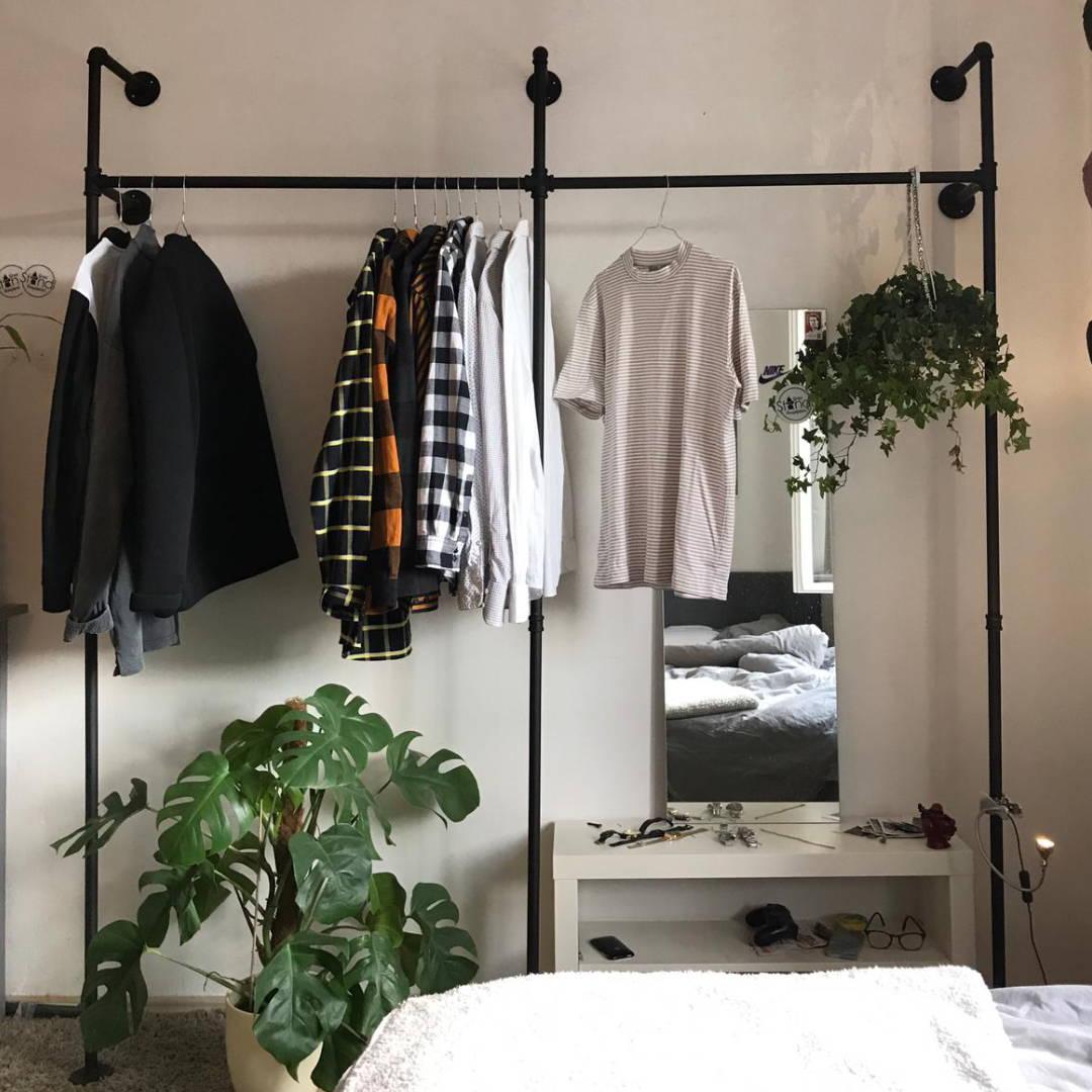 Kleiderständer aus Wasserrohren industrial design pamo Deckenhänger kleiderstange KIM II