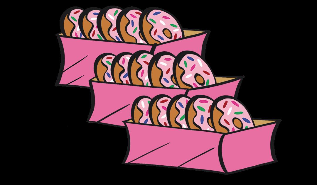 illustrated doughnuts