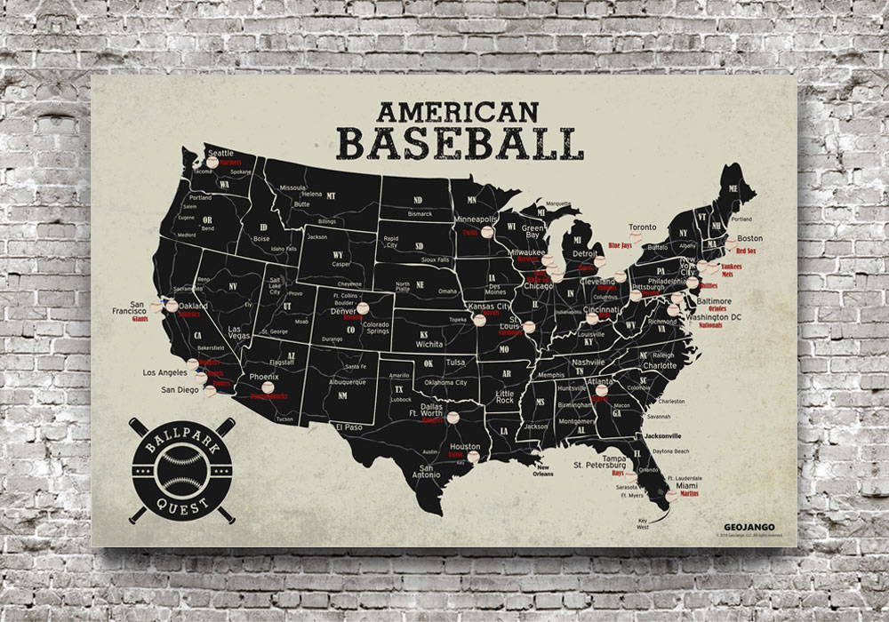 Sports Map Posters